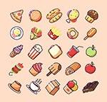 食物图标矢量