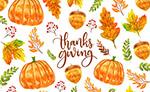 感恩节树叶和南瓜