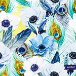 花卉和羽毛�o�p背景