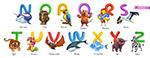 卡通动物字母