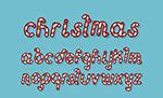 圣诞节糖果字母