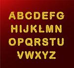 26个金色字母