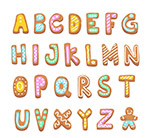 创意饼干字母