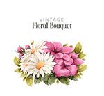复古彩色花卉花束