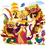 舞蹈的泰国女子