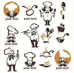 大胡子厨师标志