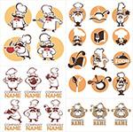 卡通厨师人物标志