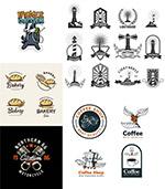 灯塔与咖啡元素标志