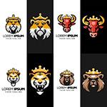 戴皇冠的动物标志