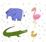 4款彩色动物