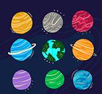 抽象太�系行星