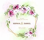 彩绘花卉婚礼海报