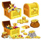 藏宝箱和金币袋子