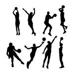 动感篮球人物剪影