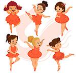 卡通芭蕾舞女孩