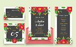 花卉装饰婚礼卡片
