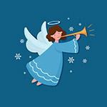 吹号角的圣诞天使