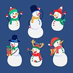 快乐冬季雪人