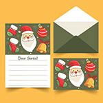 圣诞信纸明信片