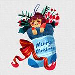 圣诞袜子和玩偶