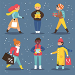 冬季�物人物