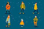 冬季服�人物