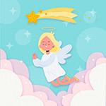 云上的天使和流星
