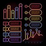 霓虹效果信息图