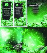 绿色钻石海报