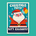 圣诞老人派对传单