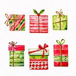 彩绘花纹圣诞礼盒