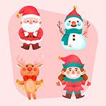 笑脸圣诞节角色