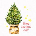 2020新年松树