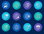 全球商业金融图标