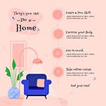 居家隔离倡议展板
