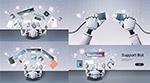 机器人与工作桌面