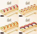 寿司美食主题矢量