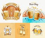 欢庆碰杯啤酒海报