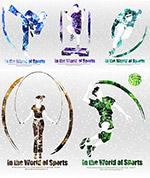 光效体育运动插画