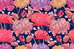 花卉艺术无缝背景