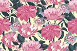 花卉艺术无缝图案