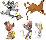 奶酪与卡通小老鼠