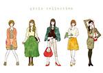 彩绘时尚女性