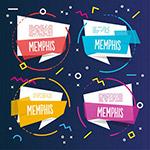 孟菲斯风格彩色模板