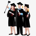 拍毕业照插画