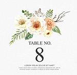 花卉婚�Y桌�卡