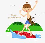 儿童暑假矢量