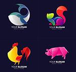 鲸鱼与公鸡等标志