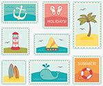 海洋元素邮票