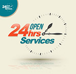 24小时开放服务